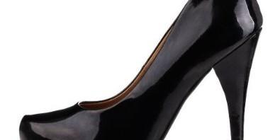 lack-schwarzer High Heel