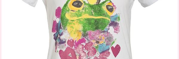 Princess Goes Hollywood Kiss me Frog Shirt Weiß